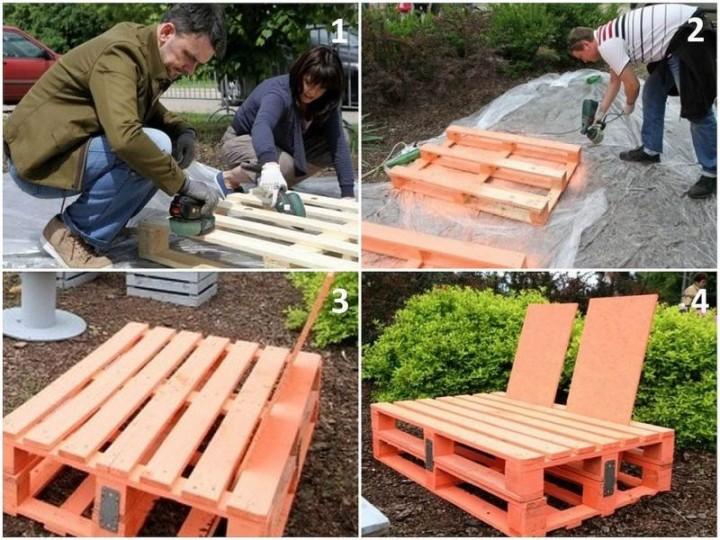 Meble Ogrodowe Z Palet Inspiracje : Meble ogrodowe Fotel z palet  Wyposażenie ogrodu  Ogród  Infor